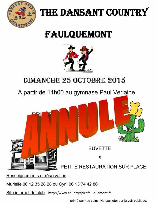 THE DANSANT DU 25 OCTOBRE 2015 - ANNULE