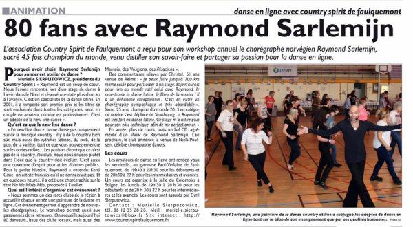 WORKSHOP avec RAYMOND SARLEMIJN / SAMEDI 09 AVRIL 2016 à FAULQUEMONT