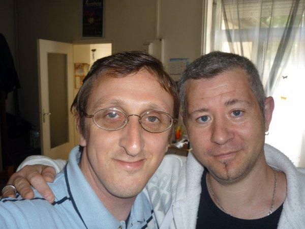 Mon ami Frédéric (Frédo) et moi.