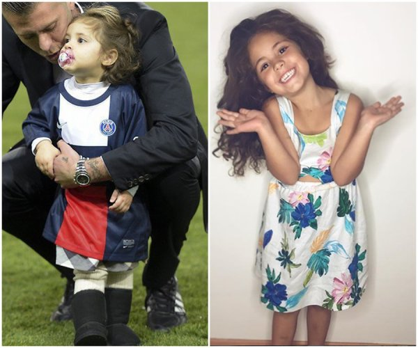 Emilie Nef Naf & ses Enfant Maelle & Menzo Menez emilie et séparé de Jeremy Menez