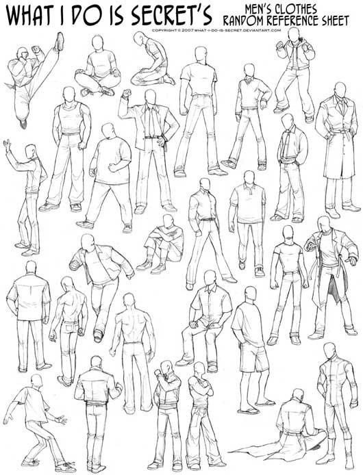 dessin manga pose