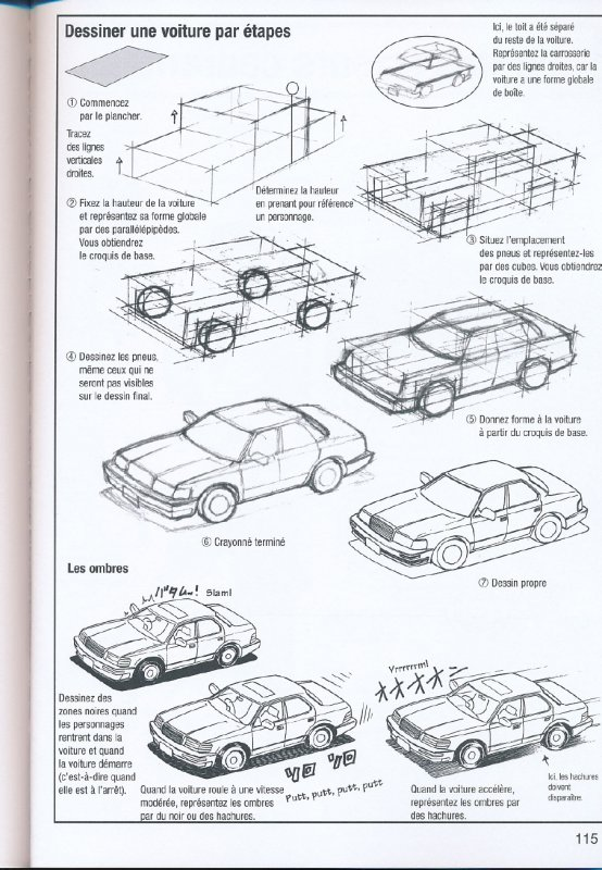 How to draw car comment dessiner une voiture adm - Dessiner cars ...