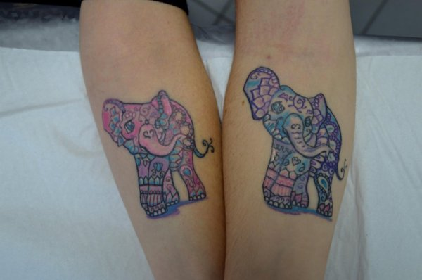 tattoo m re fille l phant tatouage amazone. Black Bedroom Furniture Sets. Home Design Ideas