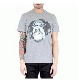 2017年バージョン入荷 クルーネックプリントTシャツGIVENCHY ジバンシィ メンズ tシャツ グレー