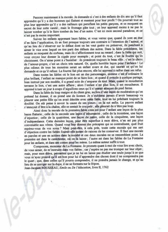 -------------Textes complémentaires : préface des Contes de Charles Perrault et ---------Émile ou de l'éducation de Jean-Jacques Rousseau