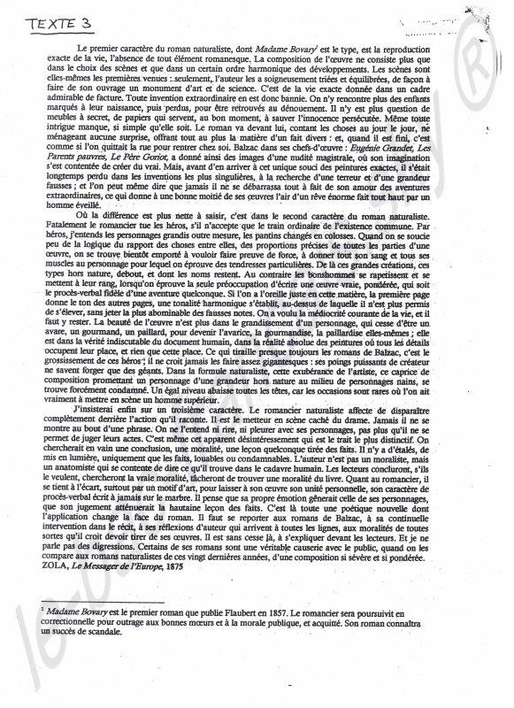 Textes supplémentaires pour la dissertation : le réalisme.