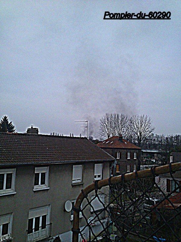 Fumée Suspecte  Pont-Sainte-Maxence/ Les Ageux (60)