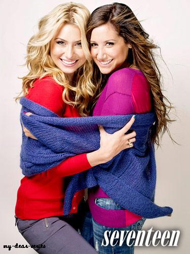 [-Article 7-] Alyson Michalka et Ashley Tisdale posent pour le magazine Seventeen. Photoshoot réalisé pas Cliff Watts.