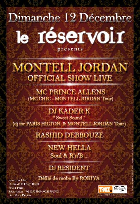 New Ella fera la 1ère Partie de Montell Jordan au Réservoir le Dimanche 12 Décembre 2010