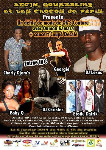 Concert du 8 janvier 2011 à Cergy - Show Case de New Ella (le Flyer)