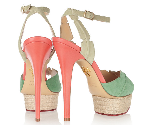 Charlotte Olympia -  Isla palm sandals 720 ¤