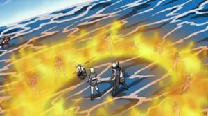 Entaille de flammes