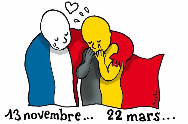 Une pensée pour les victimes des attentats en Belgique