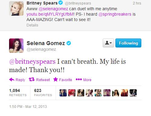 Le tweet de Britney pour elle.