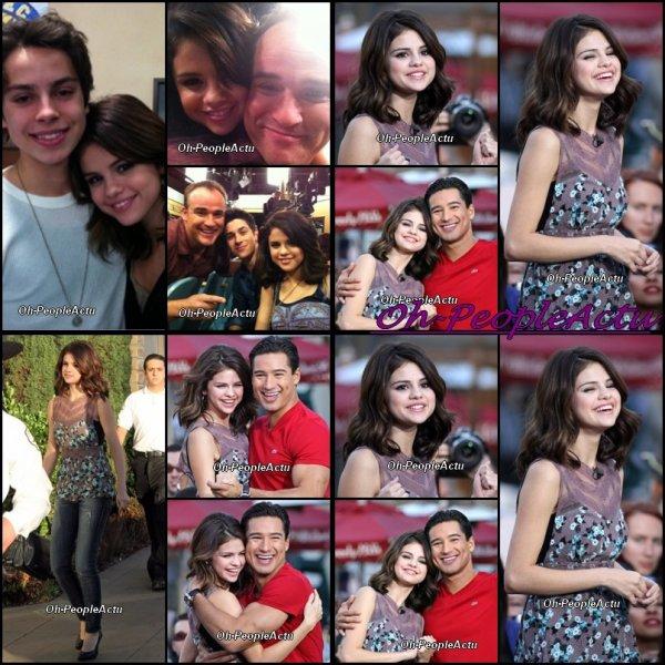 Selena  a été photographié, le 9 novembre , donnant une interview pour Extra en Californie, avec le presentateur de Dance Crew USA, Mario Lopez . Je les trouve tres radieux, et tres proches aussi ^^