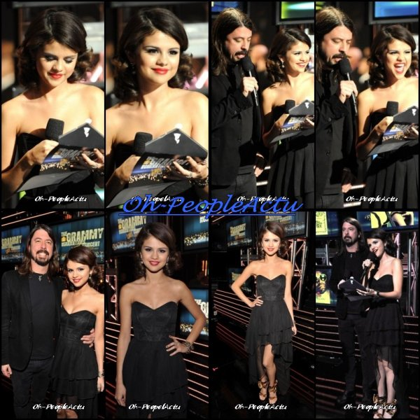 """Ce 1er decembre, Selena a eu l'immense honneur de pouvoir presenté les nominées dans la categorie """"The Song Of The Year"""" (""""La Chanson de L'annee"""") pour les Grammy Awards qui se derouleront ce 13 fevrier. ^^ Selena était splendide, je trouve, je lui met un gros TOP :D"""