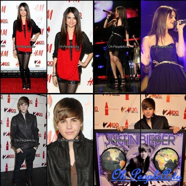 Le 10 decembre, Ashley etait de sortie, seul pour une reunion à Los Angeles :) Puis, avec sa mere, en train de faire du shopping.  Je trouve sa tenue super, et j'adore son sac ^^ Ensuite, en fin de soiree, Selena, Justin et d'autres stars se sont rendus au Z100′s Jingle Ball. Je trouve Selena, splendide, surtout lors de sa performance, sa robe est juste sublime :D Et, grande nouvelle, L'album de Justin s'est vendu a plus de 9 millions dans le monde ^^