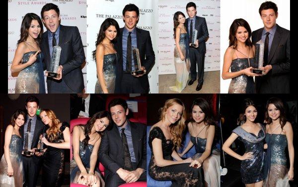 """Le 12 decembre, Selena Gomez, Katie Cassidy et Cory Monteith était au """"2010 Hollywood Style Awards"""". Cory Monteith, un des personnage principale de la fameuse serie """"Glee"""", a recu le pris du """"Future Style Icon"""". Selena, Katie et Cory partageront le film """"Monte Carlo"""" cet été 2011,  sur nos ecran :)"""
