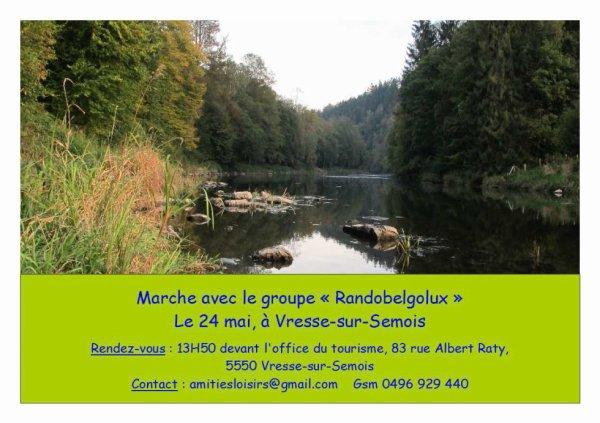 """Marche à Vresse-sur-Semois, avec le groupe """"Randobelgolux"""""""