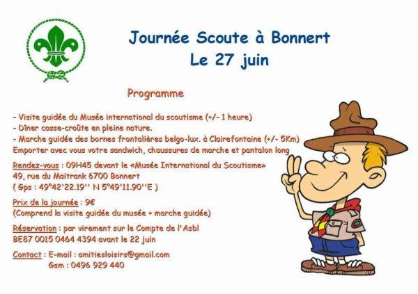 Journée Scoute à Bonnert, le 27 juin