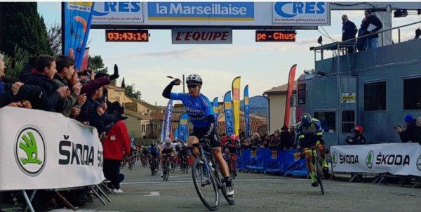 Quatrième étape de l'Etoile de Bessèges le samedi 03 février 2018.