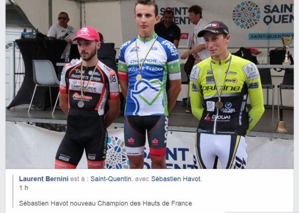 G-P Saint-Quentin (Aisne), support du Championnat des Hauts-de-France 1ère catégorie et Espoirs.