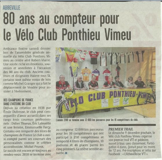 Souvenir souvenir VC Ponthieu Vimeu.