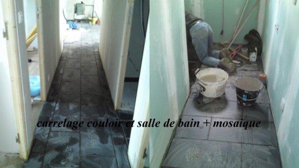 Pose du carrelage couloir et salle de bain blog de doloetfab - Salle de bain couloir ...
