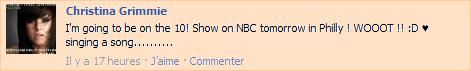 Christina dans le NBC Show !