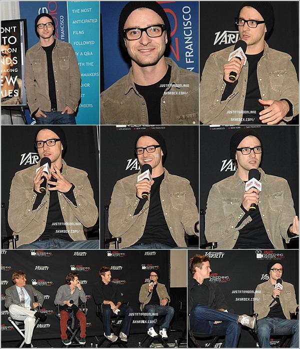 . 2 Décembre 2010 : Justin à une conférence de presse organisé par le magazine Variety pour The Social Network .Désolé pour la qualité des photos, mais y'a pas mieux pour l'instant.. Sinon, comment trouvez-vous notre Just' ? .
