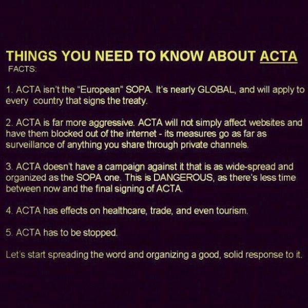 A mort ACTA !!
