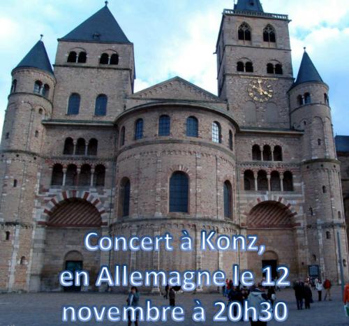 Concert du 12 novembre 2013 !