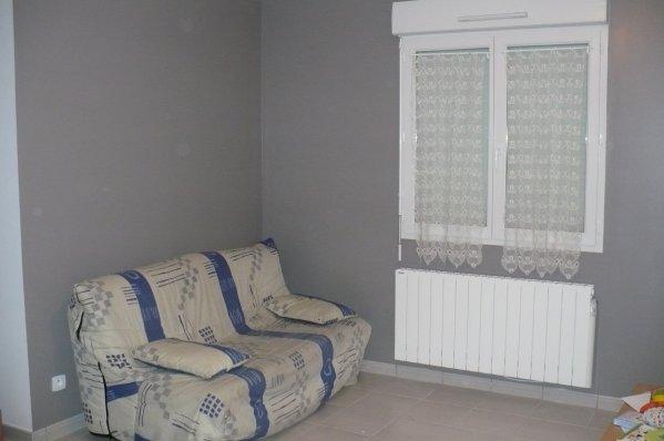 Le mur gris du salon et le radiateur - Notre Maison