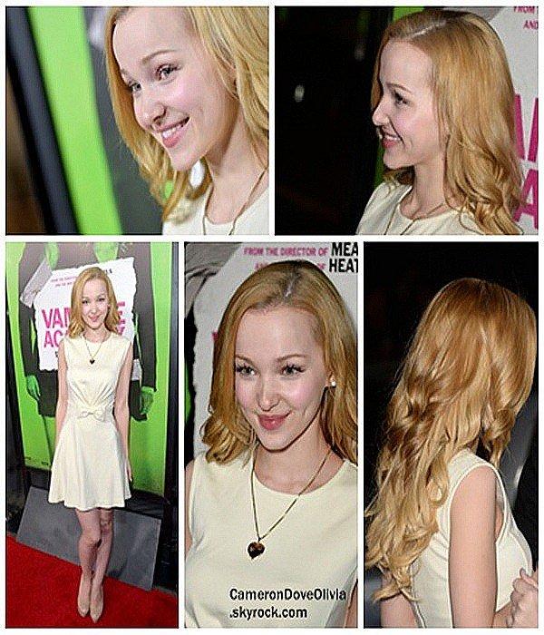 """► Evênement  04/02/2014 Dove Cameron était présente à la soirée d'avant-première du film """"Vampire Academy"""" se tenant à Los Angeles."""
