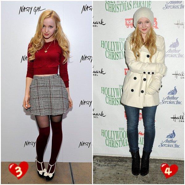 Sondage : élisez le TOP de Dove lors des red carpets de 2014. Commentez pour me dire la tenue que vous aimez le moins et pourquoi.  Mon TOP : la tenue 3. Celle que j'aime moins : la tenue numéro 2 car trop fade et je trouve que ça ne lui va pas trop au teint.