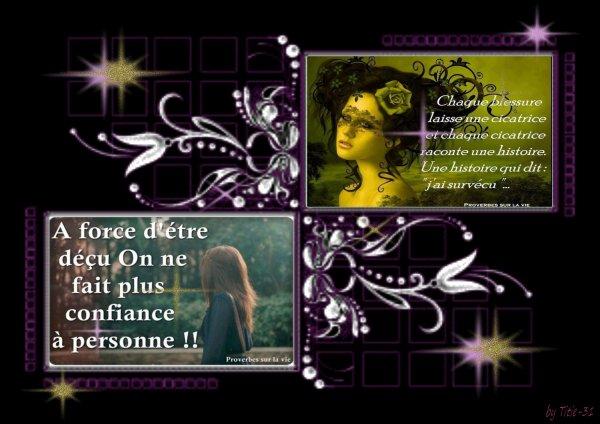 A méditer....Proverbes sur la vie .....