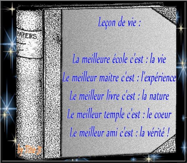 A méditer....Proverbes sur la vie ....
