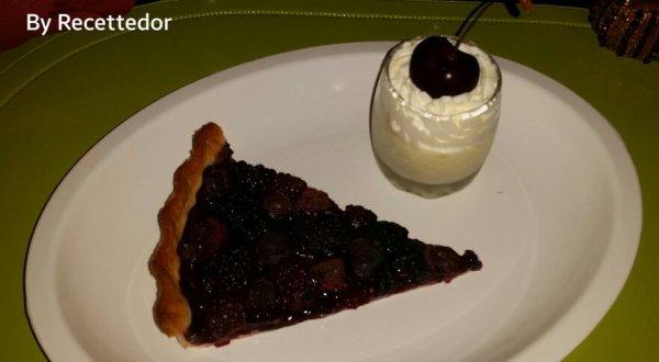 Suggestion de dessert... tarte aux fruits aux baies et verrine estivale