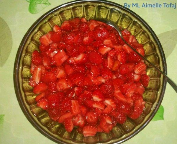 Dessert avec des fraises du valais