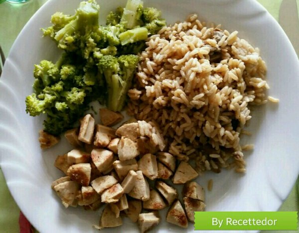 risotto aux bolets minc de saucisses de veau d glac au vin blanc et brocoli vapeur noix de. Black Bedroom Furniture Sets. Home Design Ideas