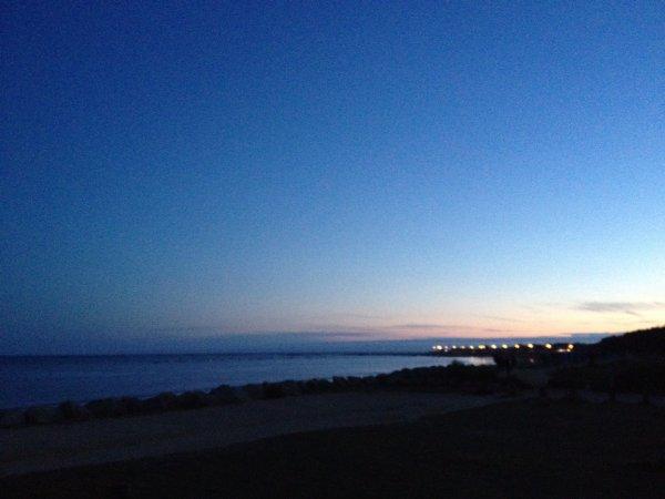 *photo en mer le soir