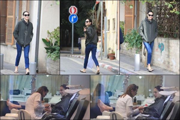 03/01/2019 -   Gal Gadot a été aperçue sortant d'un salon de pédicure dans la ville de Tel Aviv en Israël