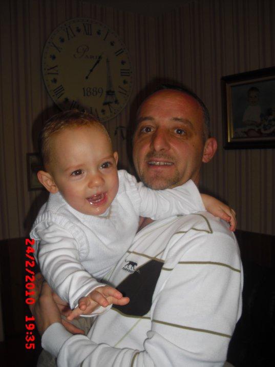 mon chérie et notre fils timéo