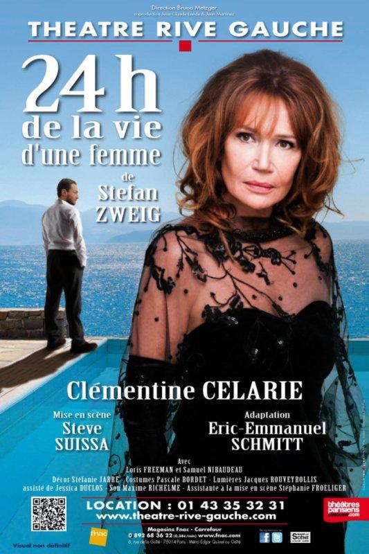 """Clémentine Célarié au Théâtre Rive Gauche dans """"24h de la vie d'une femme"""" !"""