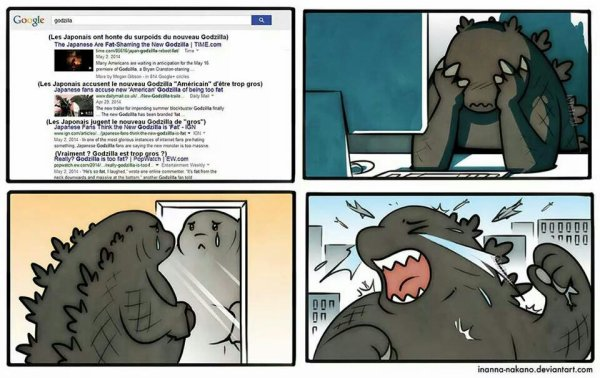 Godzilla en sur poids