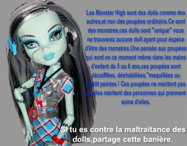 Contre la maltraitance des Monster High !