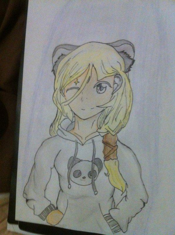 13em Dessin: Neko Panda girl :3