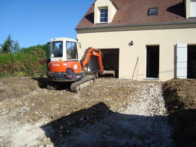 Terrassement  Rampe DAccs Au Garage  Blog De PoussinetteEtPoussin