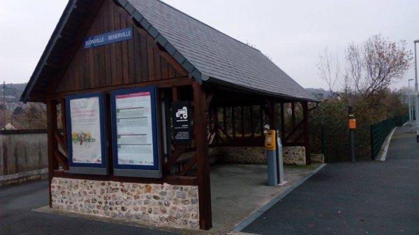 Ce qu'il reste de la gare de Blonville-Bénerville