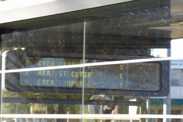 Tram de Caen - Affichage des départs en station